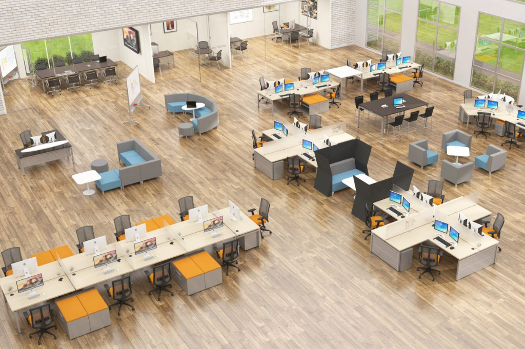 office design - the complete flexible working office is becoming redesigned