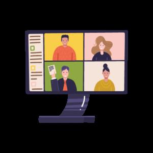 Coordinate online meetings during the pandemic - trabaja desde casa
