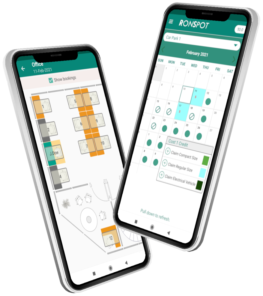 Office Parking Management and Hot Desk Booking App