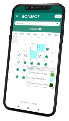 Ronspot mobile app for a phased return to work