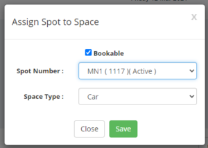 Assigning the spot - Ronspot Freemium