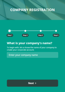 Registering Your Company with Ronspot - Step 1