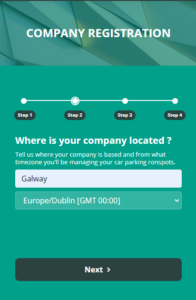 Registering Your Company with Ronspot - Step 2