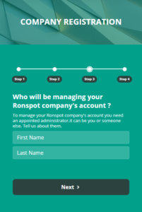 Registering Your Company with Ronspot - Step 3