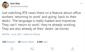 """The new workplace - is it fair to say we are """"returning"""" to the office"""