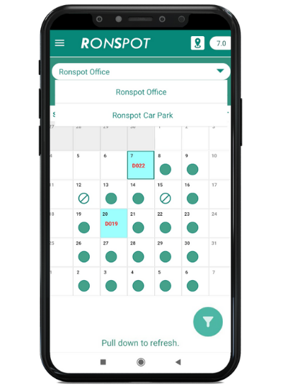 Ronspot for finance companies - parking management and desk booking system