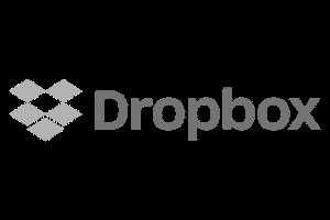 Dropbox grey logo