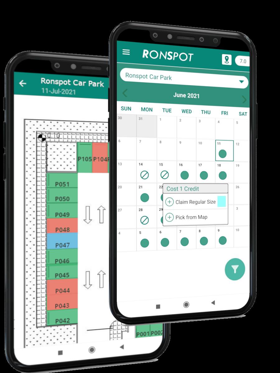 Ronspot office parking management app