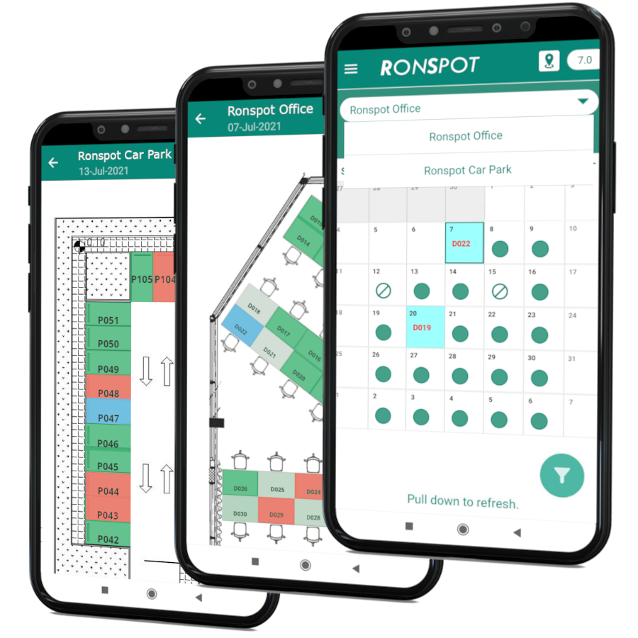 Ronspot Desk and Parking reservation app