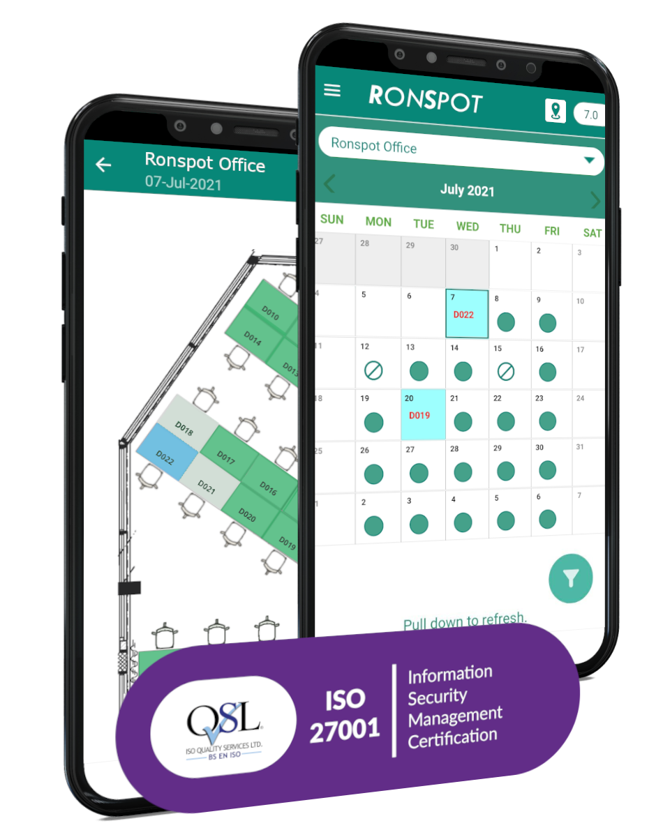 Ronspot Desk Booking System Hoteling Software